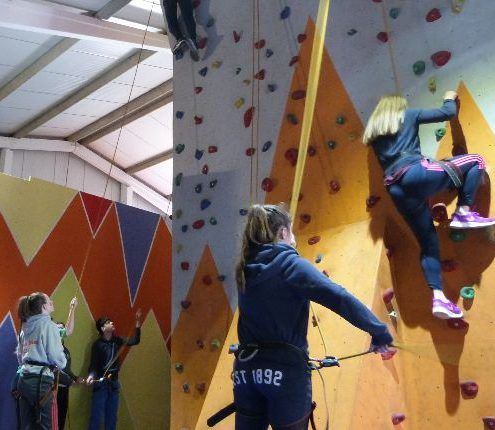 Lahinch adventures wall climb