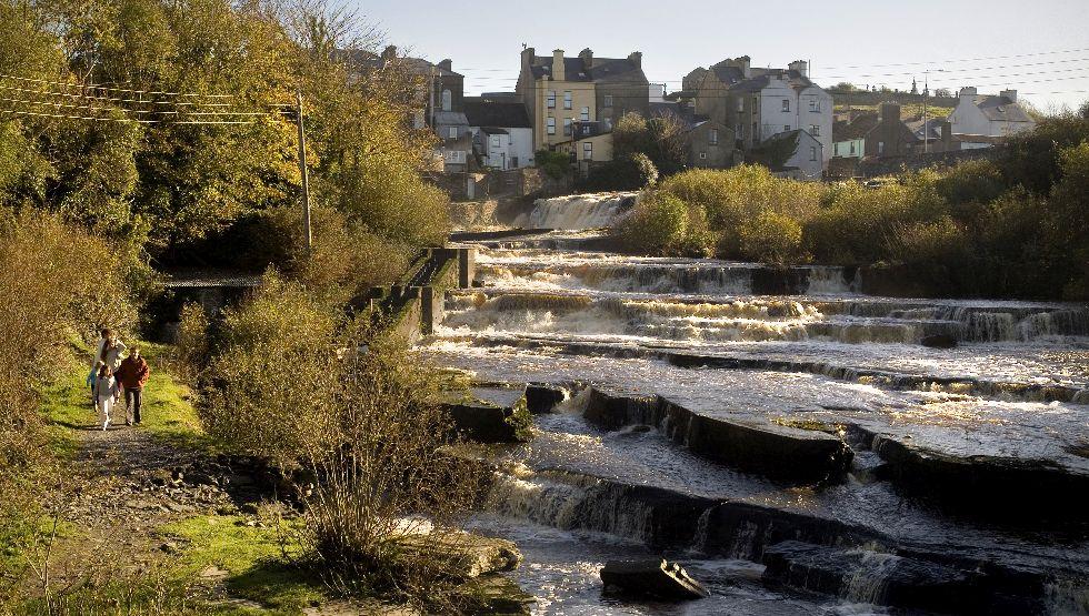 Ennistymon cascades, Co. Clare
