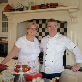 Niall and Darra Hughes . Owners of the Sea View House Doolin.