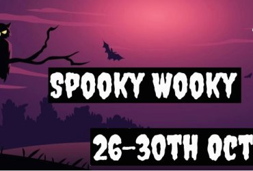 Spooky Games! Smores for everyone! Get your spooky face painted! Spooky games! Do the Spider facts quiz and win a prize! Special treat if you come in costume! Owl babies story 3pm daily!