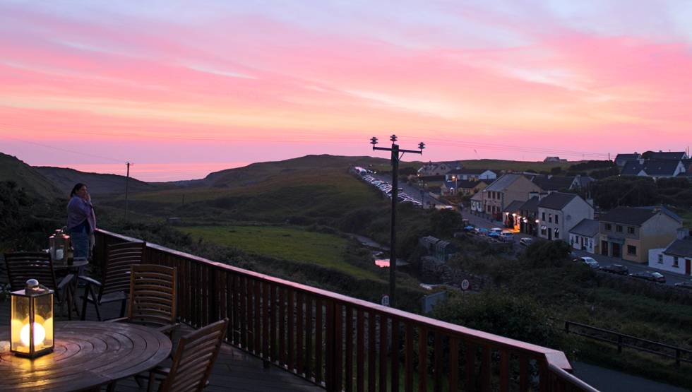 View from the deck at Sea View House Bed and Breakfast in Stay Doolin
